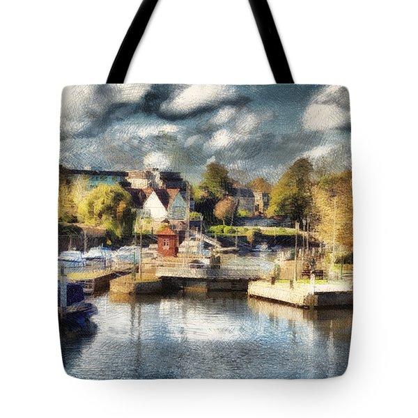 Riverview V Tote Bag