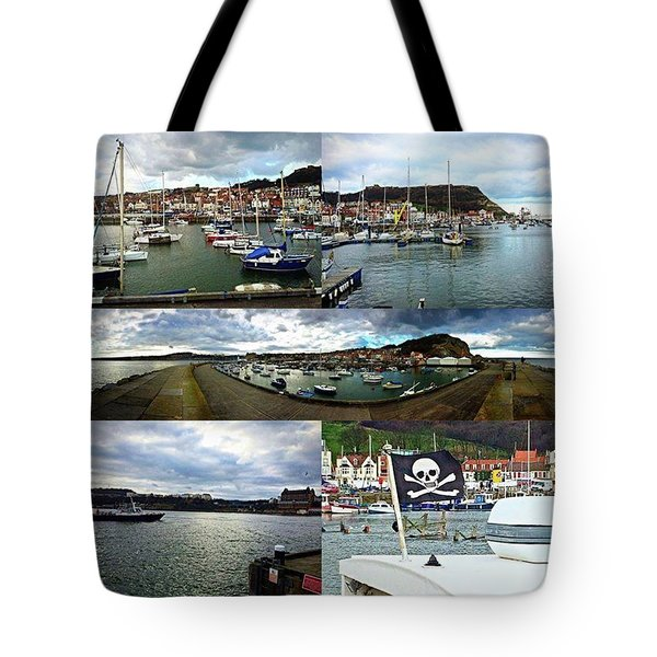 #scarborough #harbour #seaside #sea Tote Bag