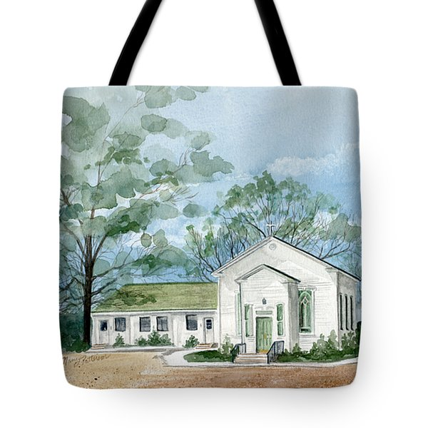 Sicklerville 1859 Church  Tote Bag by Nancy Patterson