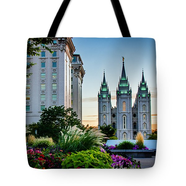 Slc Temple Js Building Tote Bag by La Rae  Roberts
