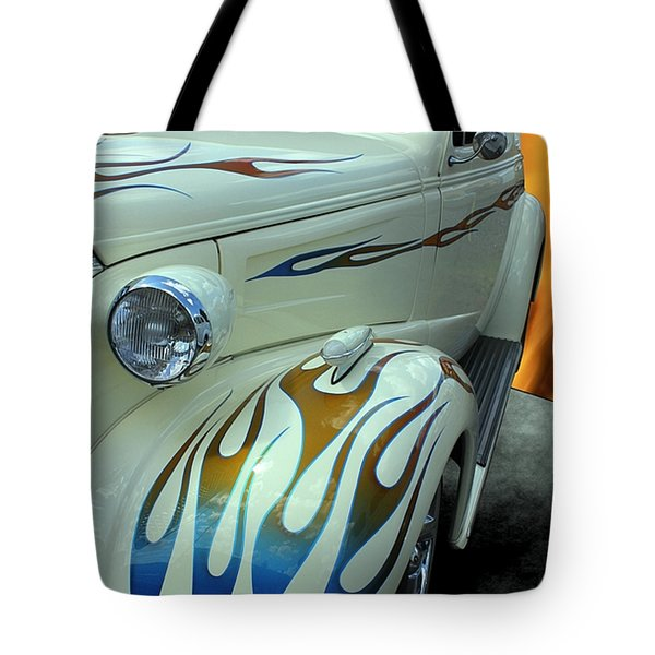 Smokin' Hot - 1938 Chevy Coupe Tote Bag by Betty Northcutt