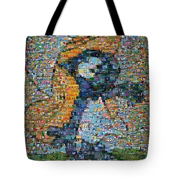 Smurfette The Smurfs Mosaic Tote Bag by Paul Van Scott