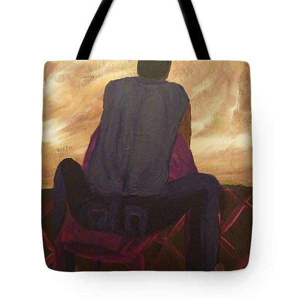 Tote Bag featuring the painting Solitude by Joshua Redman