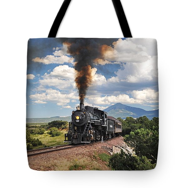 Steaming Towards La Veta Tote Bag