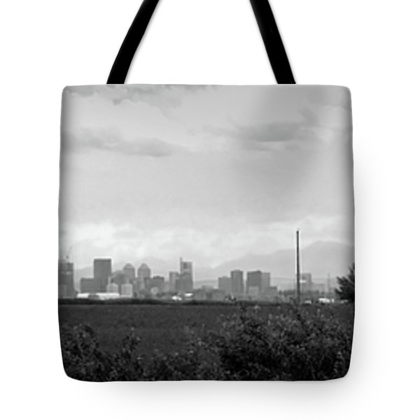 Stormy Day Calgary Cityscape Tote Bag by Lisa Knechtel