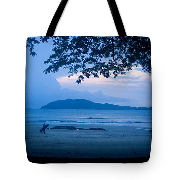 Strolling Surfer Tote Bag