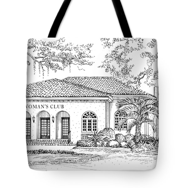 Tallahassee Womens Club Tote Bag by Audrey Peaty