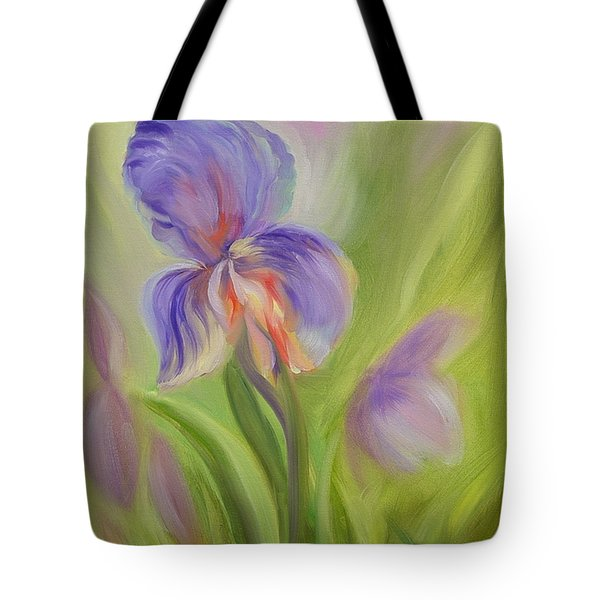 Tote Bag featuring the painting Tennessee Iris Two by Carol Berning