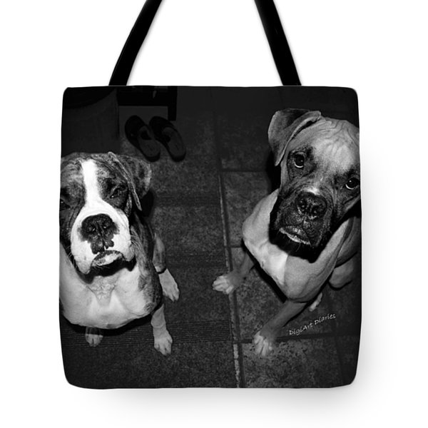 The Cat Did It Tote Bag by DigiArt Diaries by Vicky B Fuller
