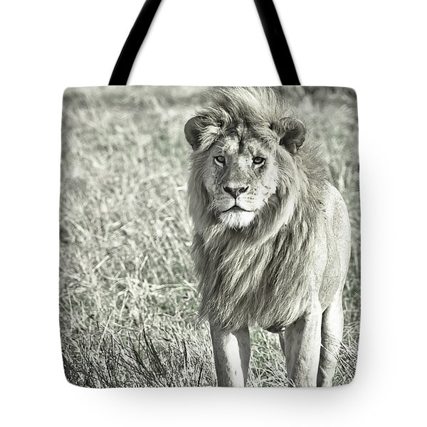 The King Stands Tall Tote Bag by Darcy Michaelchuk