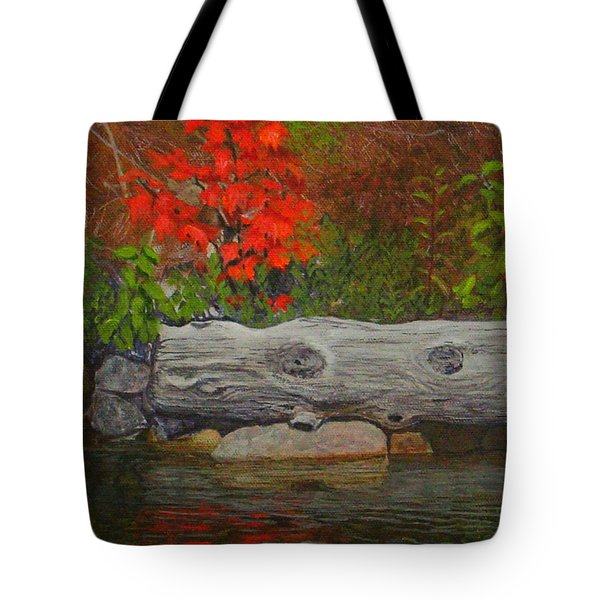 The Lonely Maple Tyson Lake Tote Bag by Doug Goodale
