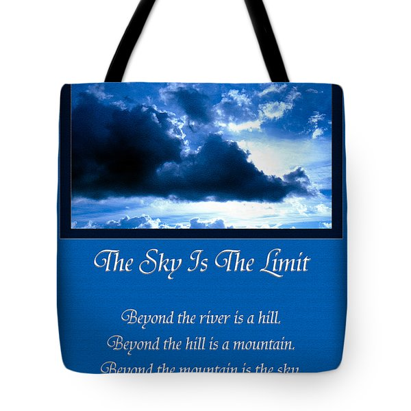 The Sky Is The Limit Tote Bag by Andee Design