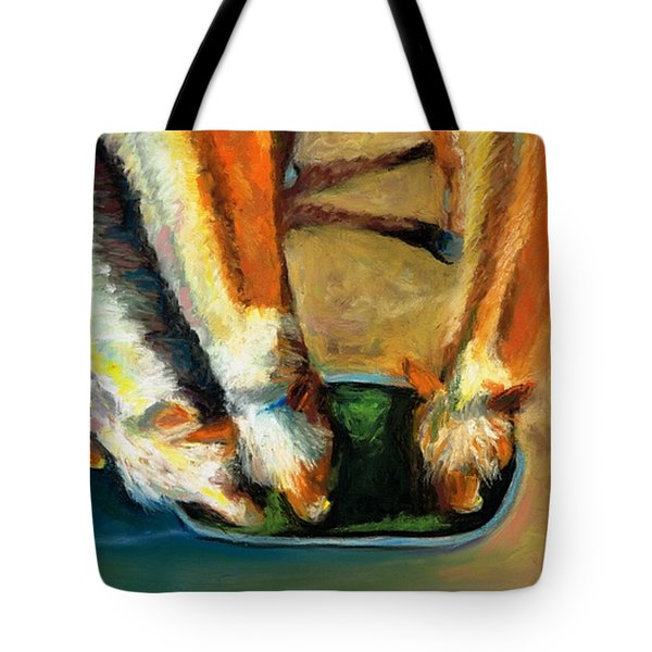 Three Palominos Tote Bag by Frances Marino