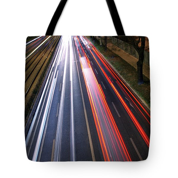 Traffic Lights Tote Bag by Carlos Caetano