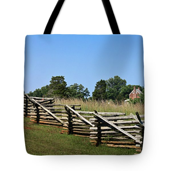 View Of Clover Hill Tavern Appomattox Court House Virginia Tote Bag by Teresa Mucha