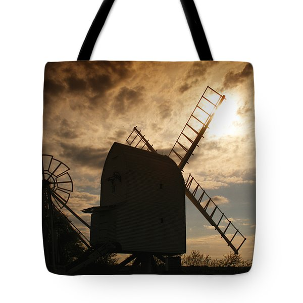 Windmill At Dusk  Tote Bag by Pixel Chimp