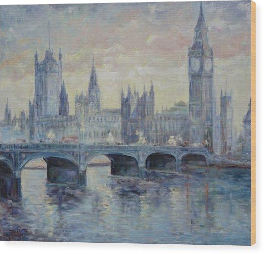 London Westminster Bridge Wood Print