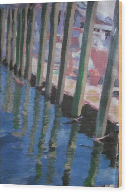 The Dock Wood Print by David Poyant