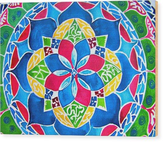 Mandalas Circle Of Life Wood Print