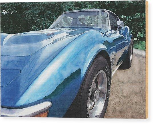 1972 Corvette Wood Print by Rod Seel