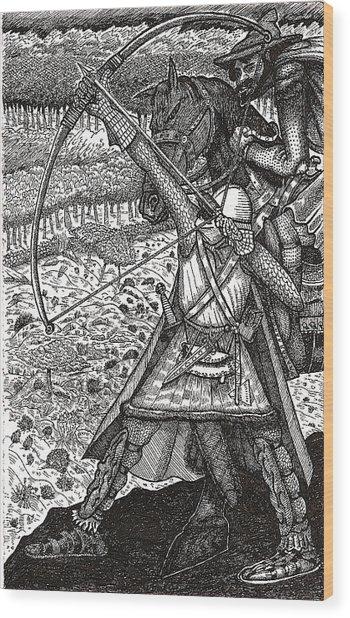 Abbadon Takes Aim Wood Print
