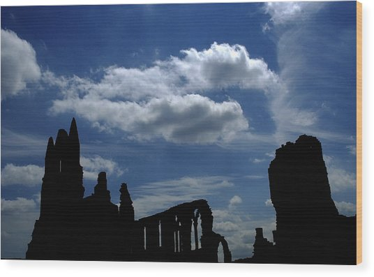 Abbey Skyline Wood Print