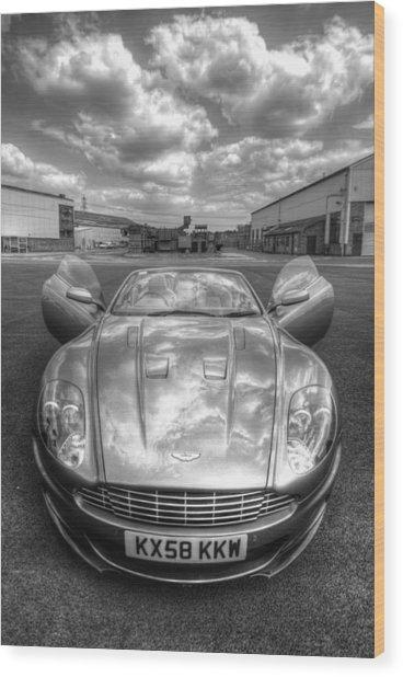 Aston Martin Dbs Wood Print