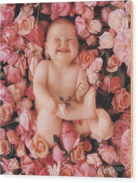 Baby Flowers 2 Wood Print