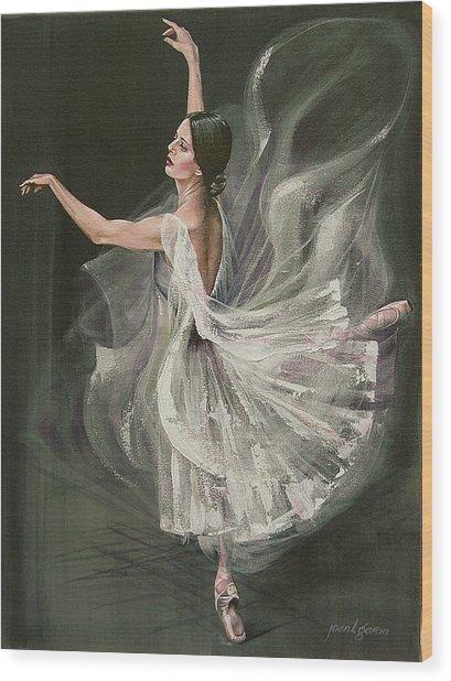 Baile Blanca Wood Print