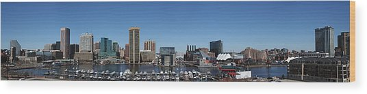 Baltimore Inner Harbor Wood Print