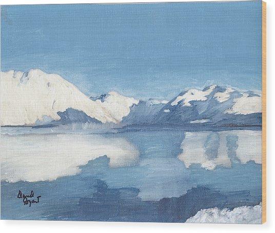 Blue Alaska Wood Print by David Poyant