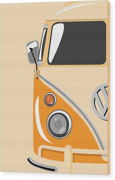 Camper Orange Wood Print
