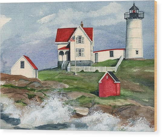 Cape Neddic Lighthouse  Wood Print