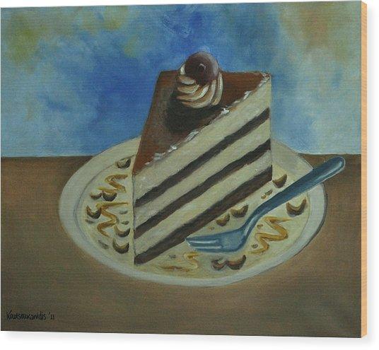 Caramel Cake Wood Print by Kostas Koutsoukanidis