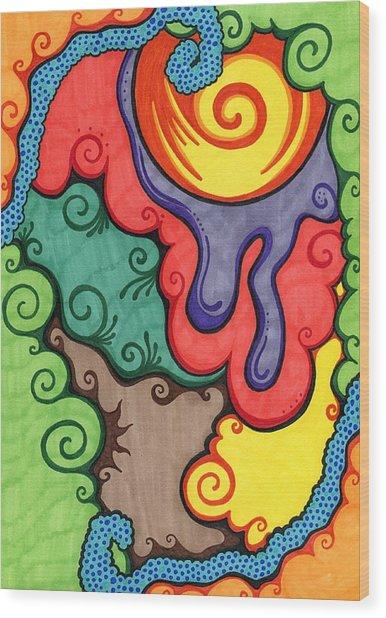 Caribbean Colors Wood Print