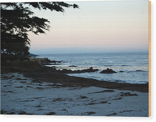 Carmel Beach Awakes Wood Print