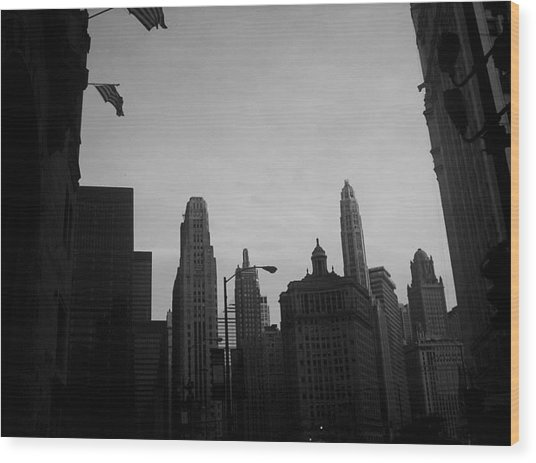Chicago 3 Wood Print