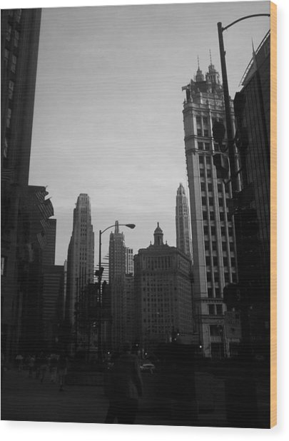 Chicago 4 Wood Print