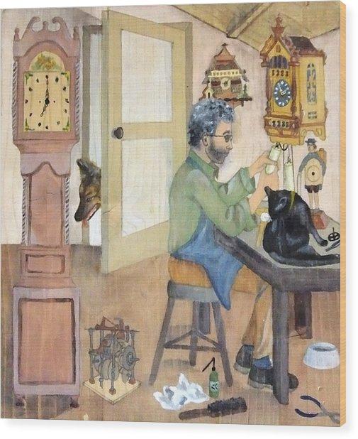 Clockmaker 1 Wood Print