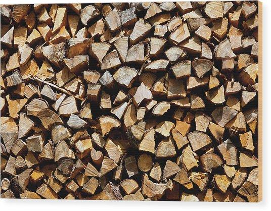 Cord Wood Texture Wood Print