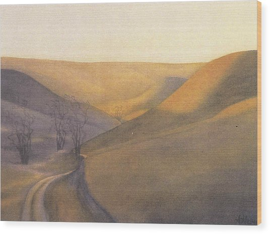 Coulee Sunset Wood Print