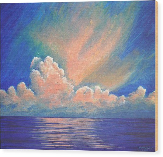 Evening Sky Wood Print by Dee Youmans-Miller