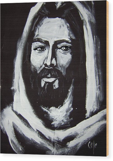 Face Of Christ Ccsa Wood Print