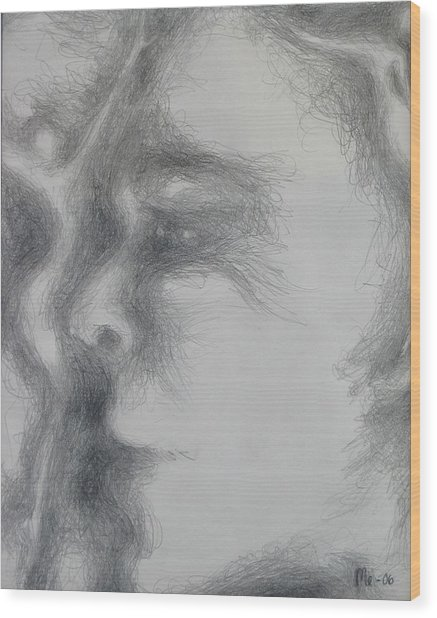 Face With Women Wood Print