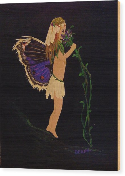 Fairy Girl Wood Print