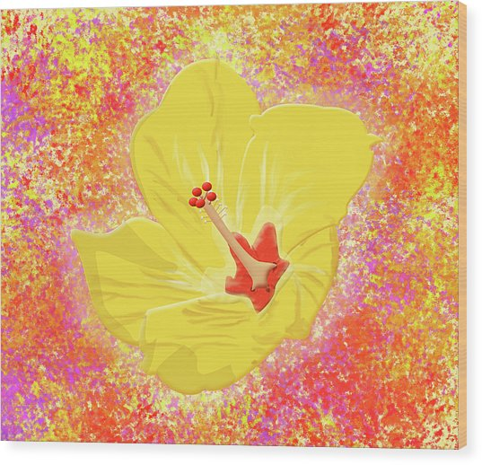 Flower In Bloom Wood Print by Melissa Stinson-Borg
