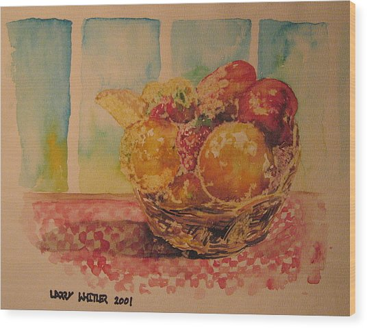 Fruitbasket Wood Print by Larry Whitler