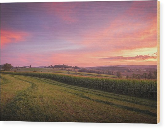 Harvest Sky Wood Print