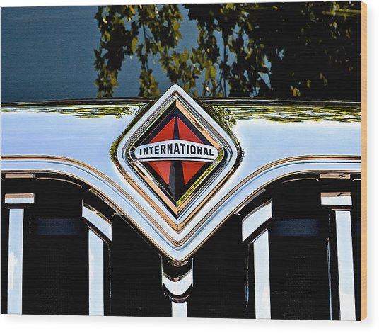 International Truck Wood Print