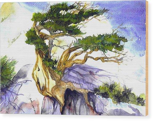 Juniper Blow Wood Print
